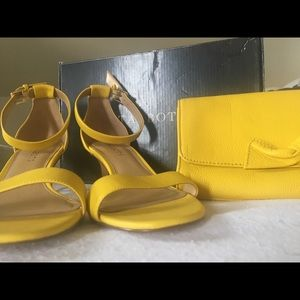 Bundle deal! Talbots shoes and clutch!